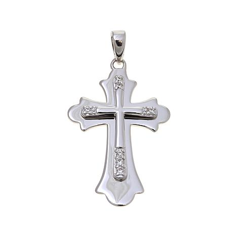 Michael anthony jewelry cz cross sterling silver pendant 8257745 michael anthony jewelry cz cross pendant mozeypictures Choice Image