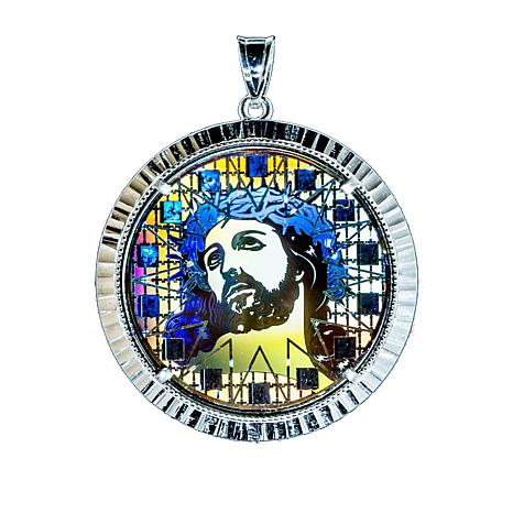Michael anthony jewelry large christ head digital hologram sterling michael anthony jewelry large christ head pendant aloadofball Choice Image
