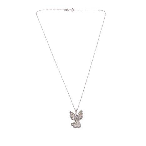 Michael Anthony Jewelry® Mother-of-Pearl Angel Sterling Silver Pendant