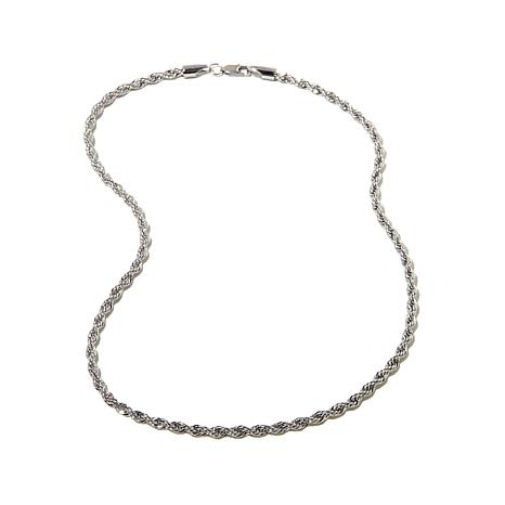 "Michael Anthony Jewelry® Stainless Steel 18"" Rope Chain"