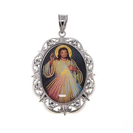 Michael anthony jewelry sterling silver oval jesus prayer pendant michael anthony jewelry sterling silver oval jesus prayer pendant aloadofball Images