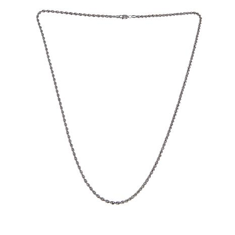 """Michael Anthony Jewelry® Sterling Silver Rope Chain 20"""" Necklace"""