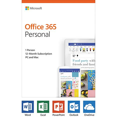Microsoft Office 365 Personal 1-Year Subscription for PC or Mac