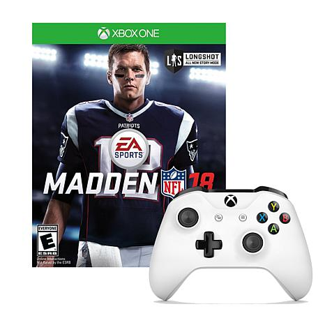 "Microsoft Xbox One White Controller with ""Madden NFL18"" Game"