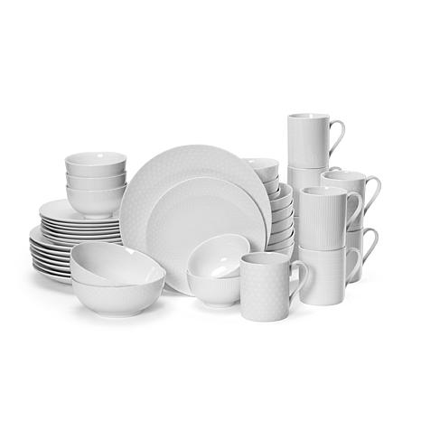 Mikasa Cheers White 40-piece Dinnerware Set