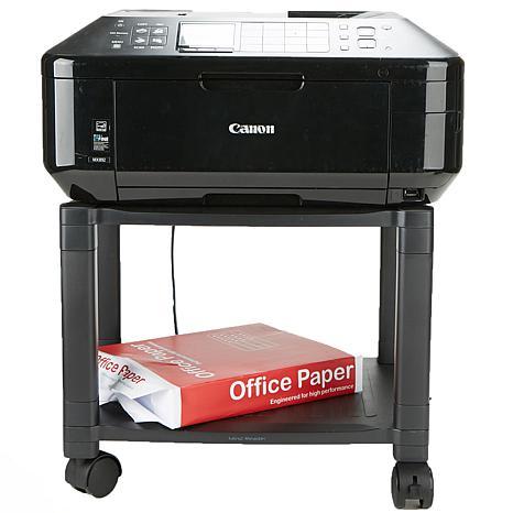Mind Reader 2-Shelf Mobile Printer Cart with Cord Management