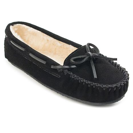 Minnetonka Cally Suede Slipper - Wide