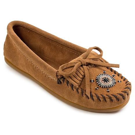 """Minnetonka """"Me To We"""" Beaded Suede Moccasin"""