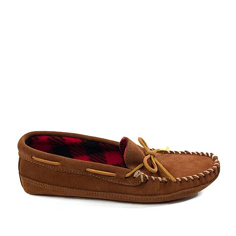 Minnetonka Suede Double-Bottom Men's Slipper