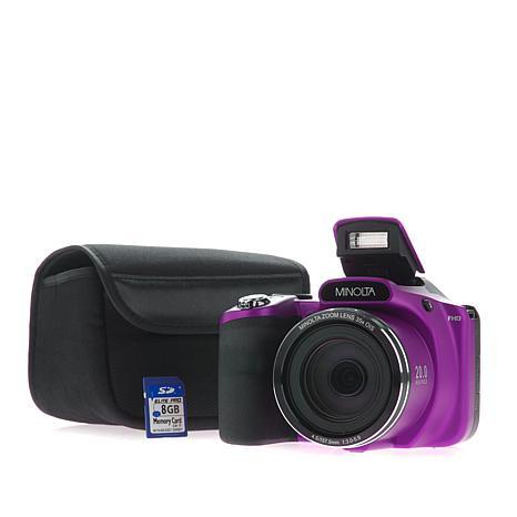 Minolta 20MP 35X Optical Zoom SLR-Style Camera with 8GB ...