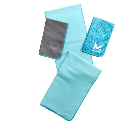 Mission VaporActive Yoga Mat Towel and 2-pack Hand Towels