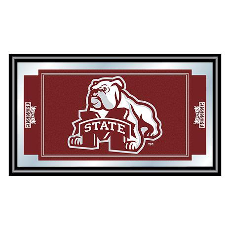 Mississippi State University Logo and Mascot Framed Mirror