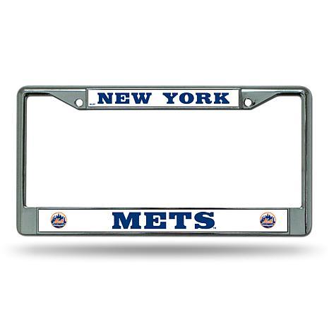 MLB Chrome License Plate Frame - Mets