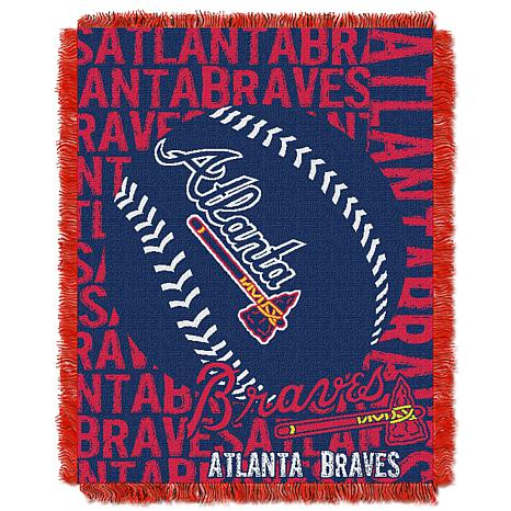 MLB Double Play Woven Throw - Atlanta Braves