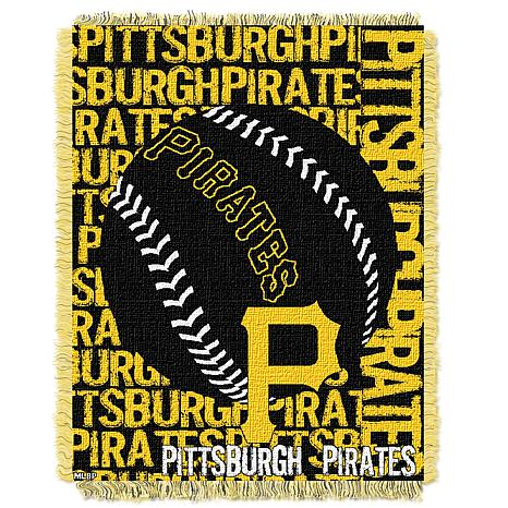 MLB Double Play Woven Throw - Pittsburgh Pirates