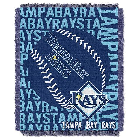 MLB Double Play Woven Throw - Tampa Bay Rays