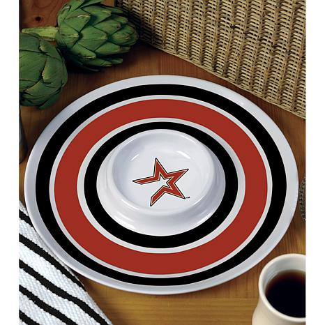 MLB Melamine Chip and Dip Serving Tray - Astros
