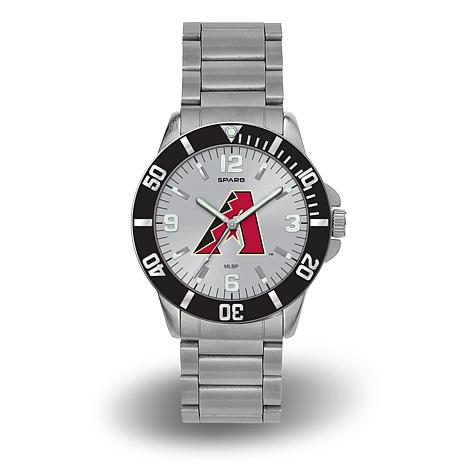 "MLB Sparo ""Key"" Team Logo Stainless Steel Watch - Arizona Diamondbacks"