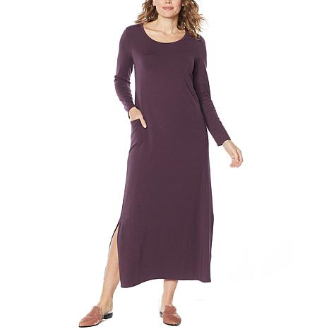 ModernSoul® Easy Knit Jersey Maxi Dress with Pockets