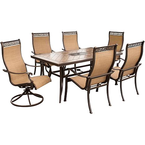 Astonishing Monaco 7 Pc Dining Set Two Swivel Chairs Four Dining Chairs And A 40 X 68 In Table Evergreenethics Interior Chair Design Evergreenethicsorg