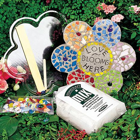 Mosaic Flower Stepping Stone Kit -