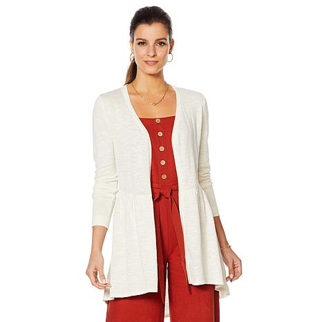 Motto Effortless Slub-Knit Cardigan