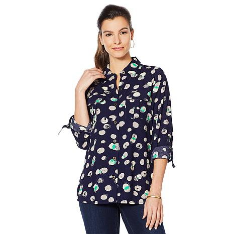 Motto Effortless Utility Button-Down Top