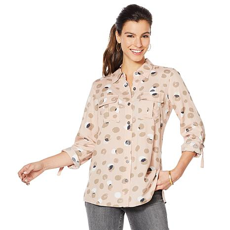 28c97f14f52 Motto Effortless Utility Button-Down Top - 8893864