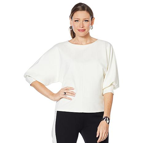 Motto Ponte Knit Structured Popover Top