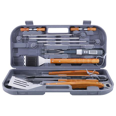 Mr. Bar-BQ 12-piece Tool Set with Bonus Electronic Fork