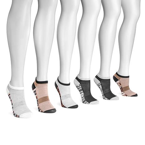 MUK LUKS Women's 6-pack No-Show Compression Arch Socks