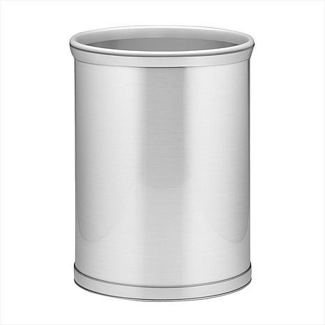 """Mylar Metal Oval Waste Basket - 10""""W x 14""""H"""