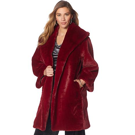 N Natori Faux Fur Topper