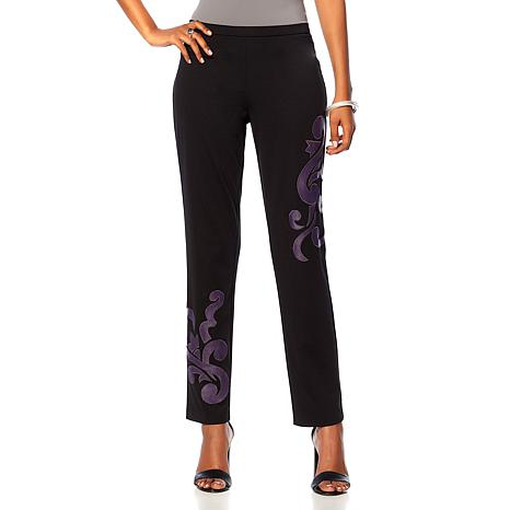 N Natori Pull-On Pant with Appliqué
