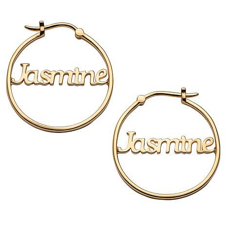 Name Small 25mm Hoop Earrings