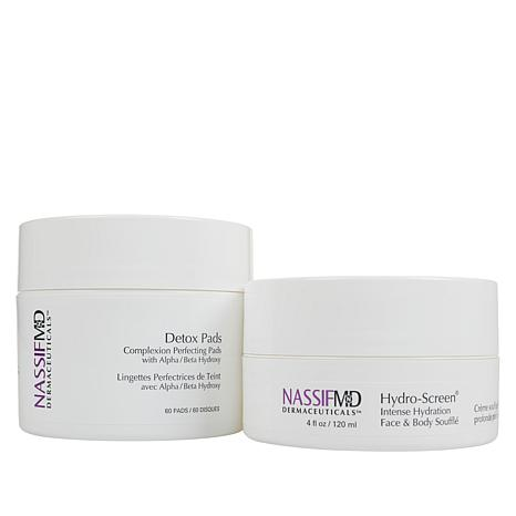 Nassif MD Detox Pads and Hydro-Screen® Face & Body Souffle