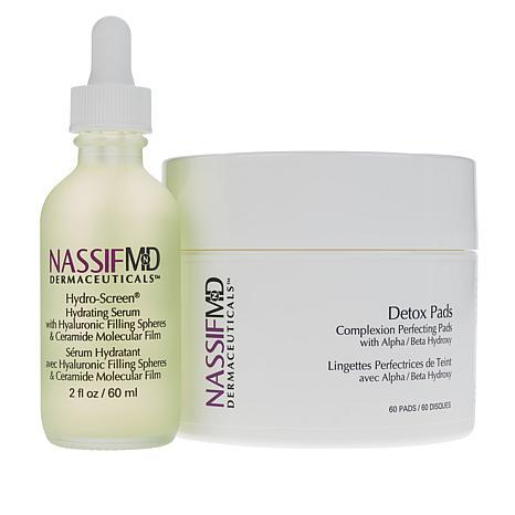 Nassif MD Hydro-Screen Hydrating Serum & Detox Pads