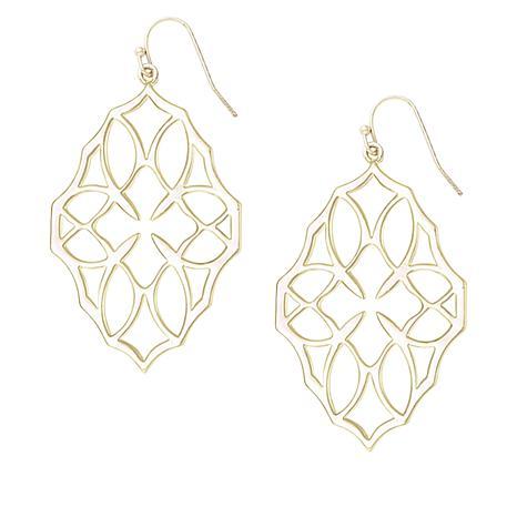 """Natalie Wood Designs """"Believer"""" Cross Drop Earrings"""