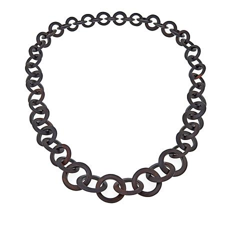 "Natural Beauties Bold Black Ebony Wood 42"" Necklace"