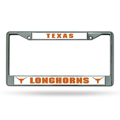 NCAA Chrome License Plate Frame - Texas - 8664763 | HSN