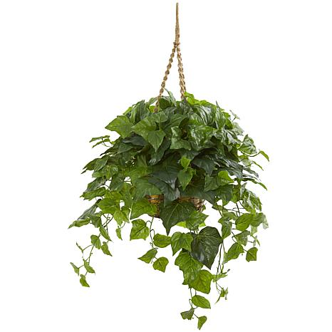 """Nearly Natural 38"""" London Ivy Artificial Plant in Hanging Basket"""
