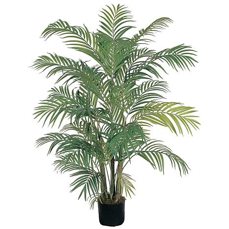 Nearly Natural 4 ft. 7-Trunk Areca Palm Tree