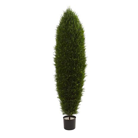 Nearly Natural 5 ft. UV Resistant Cypress Tree with 1650 Leaves