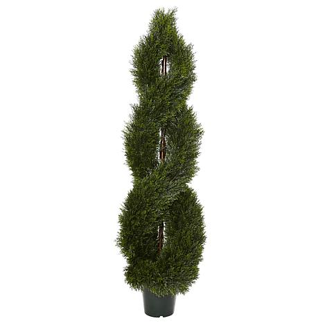 Nearly Natural 5 ft. UV Resistant Pond Cypress Topiary Plant