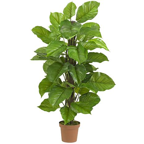 """Nearly Natural 52"""" Large Leaf Philodendron Plant - Real Touch"""