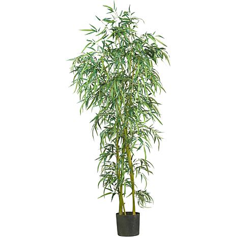 Nearly Natural 6 ft. Fancy Slim Bamboo Tree with 1,850 Leaves