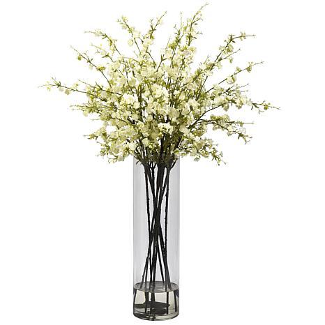 Nearly Natural Giant Cherry Blossom Arrangement - White