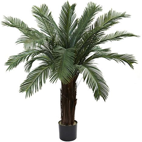 Nearly Natural UV-Resistant 4' Cycas Tree w/ 18 Fronds Indoor/Outdoor