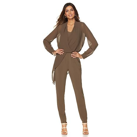 NENE by NeNe Leakes Jumpsuit with Sheer Overlay
