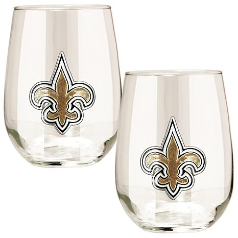 Officially Licensed NFL 2-piece Stemless Wine Glass Set - New ...